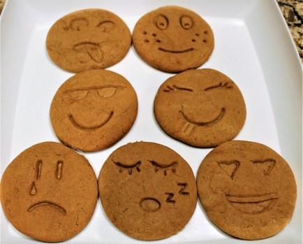 Emoji Gingerbread Cookies