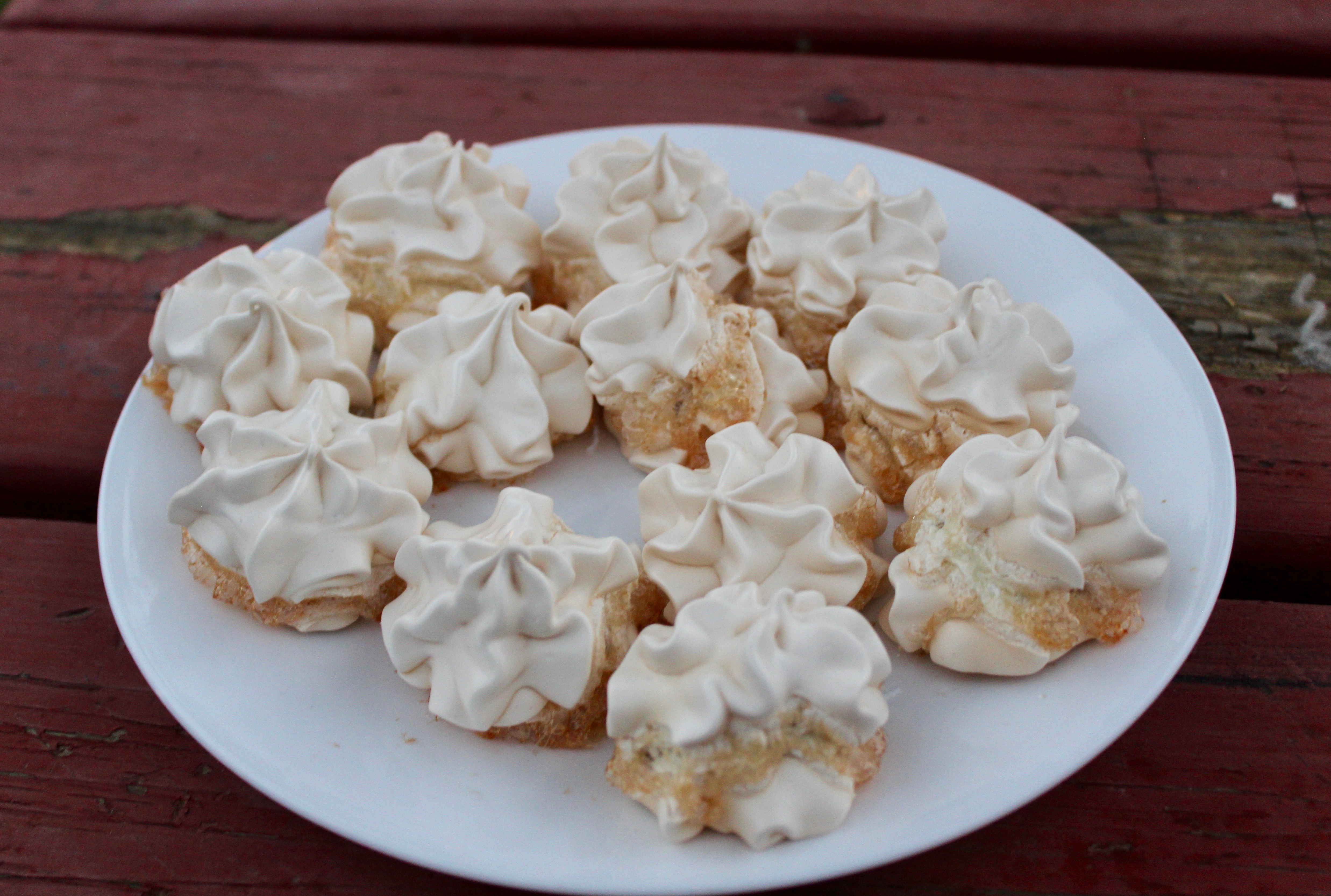 traveling kitchen white island angie s baking something scrumptious wherever i go super simple two ingredient meringues