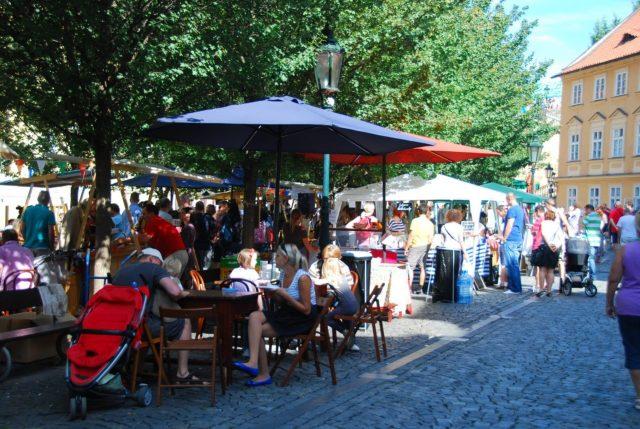 Prague, Prag, streets, sit down restaurants