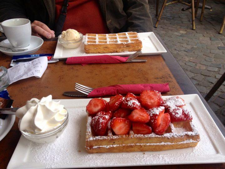 Brugge, Belgium waffles in Brugge