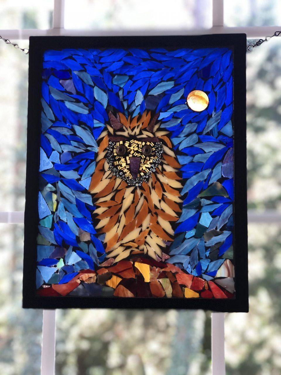 Owl Angie's Glass Mosaic