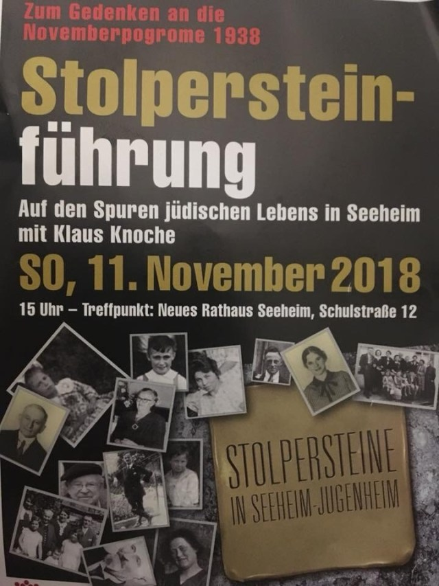 Stolpersteine, Stepping stones presentation, a Jewish and Holocaust memorial