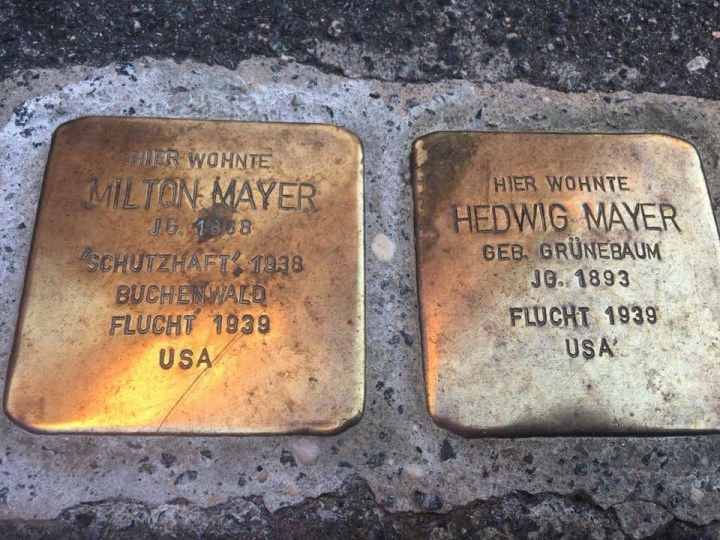 Stolpersteine, Stepping stones, a Jewish and Holocaust remembrance
