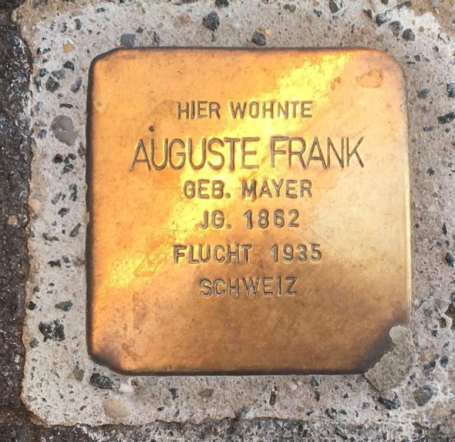 Stolpersteine, tripping stones presentation, a Jewish and Holocaust remembrance