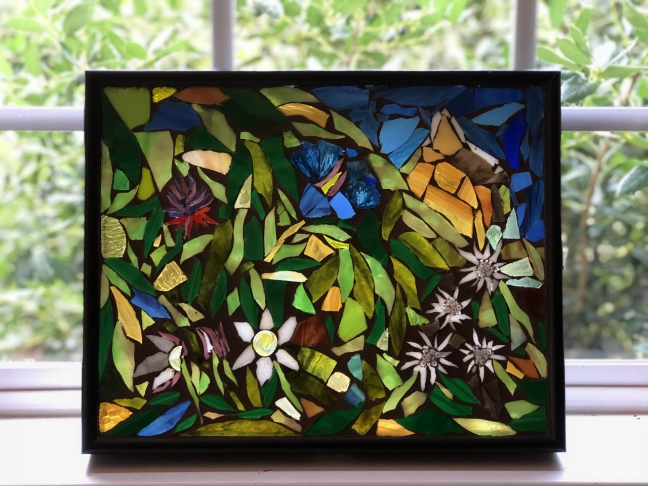 alpine flowers Glass Mosaic-GermaniaDesign.com