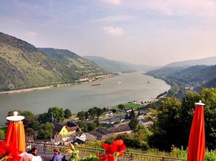 View from Burg Stahleck near Bacherach to the Rhein