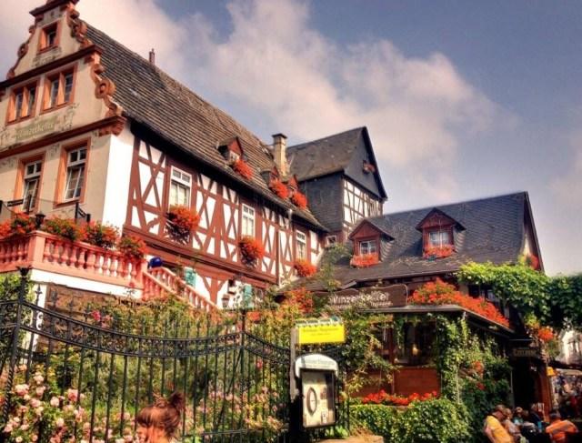 Ruedesheim, German half tmbered Style Homes, Fachwerk