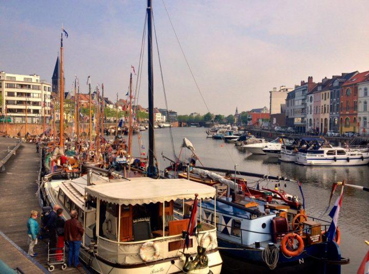 Boats in Ghent, Belgium