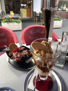 Eisbecher and Spaghetti Eis in Germany