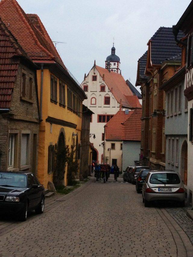 Dettelbach narrow cobblestone streets