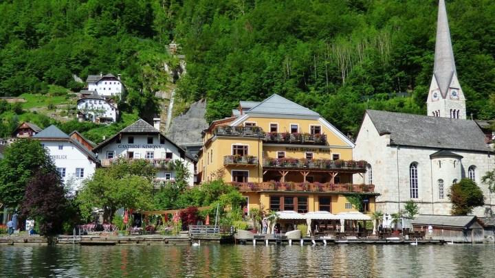 Hallstatt, Austria, view from the lake