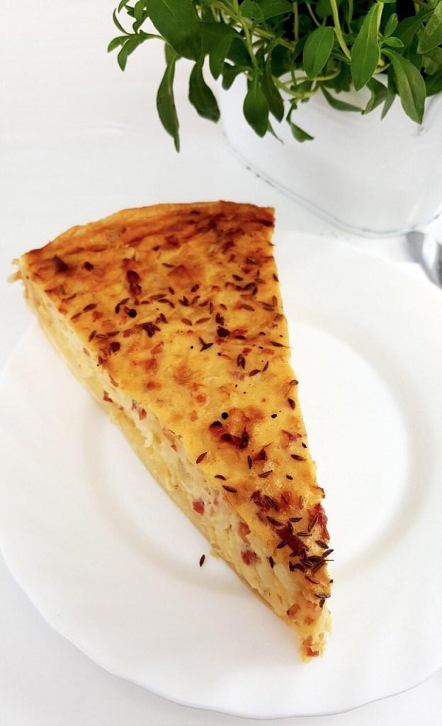 Zwiebelkuchen, German onion pie, Onion tart