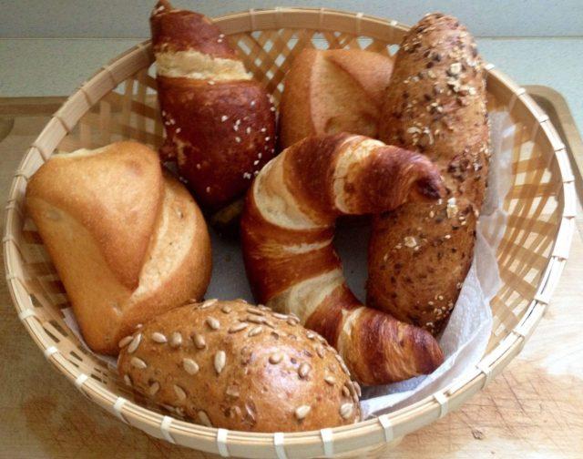 Fresh German rolls, Broetchen