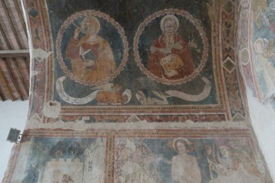 Wall painting in Orvieto, Umbria