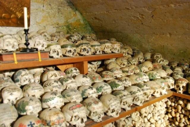 Beinhaus (Hallstatt) with Bones and Skulls
