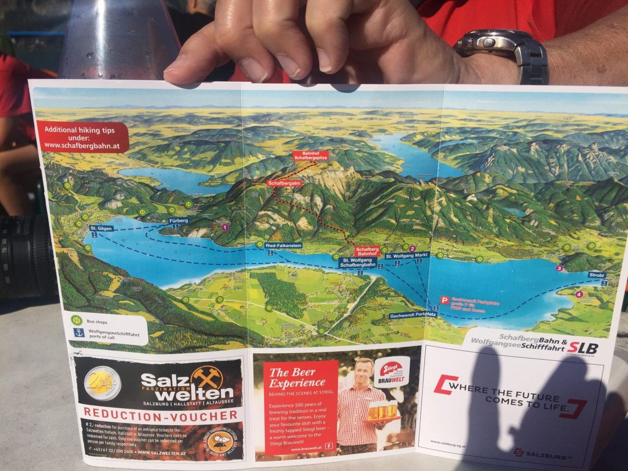 Map of Wolfgangssee, Austria