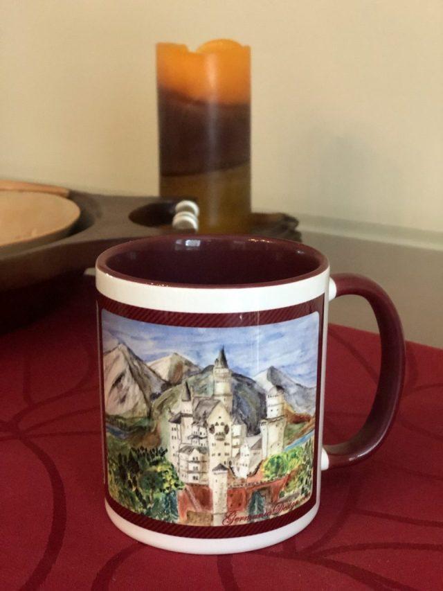 Neuschwanstein watercolor mug