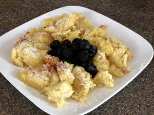 Kaiserschmarrn with tart cherries
