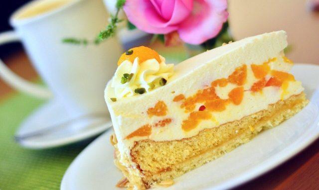 Käsesahne Cream cake, Käsesahne Torte mit Mandarinen