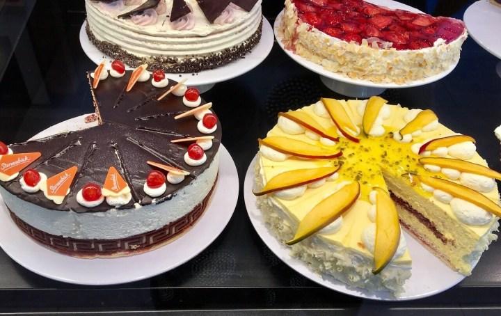 Käsesahne Torte, German cream cakes