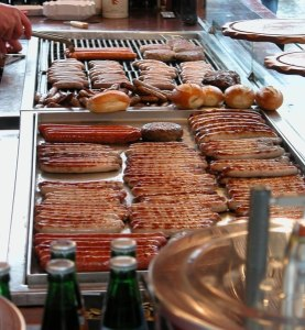 Bratwurst stand in Nuernberg