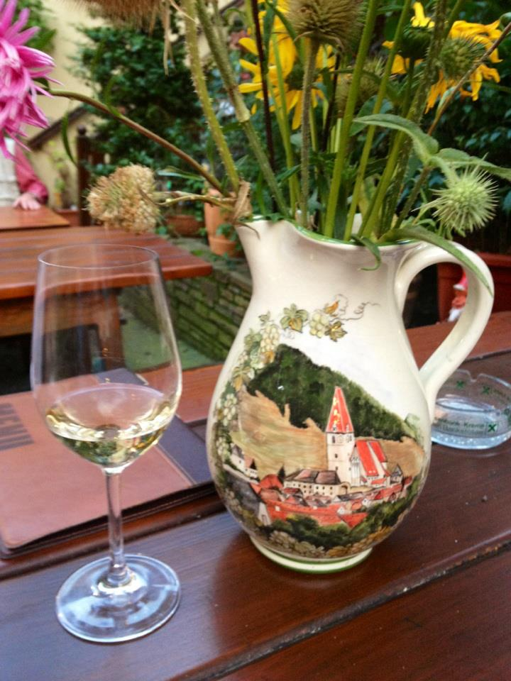 Wachau painted vase