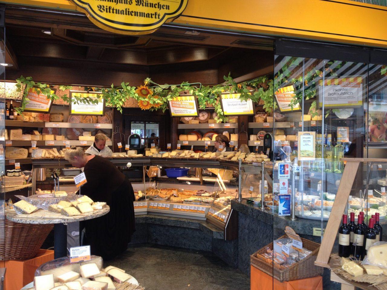 Munich cheese stand, Viktualienmarkt