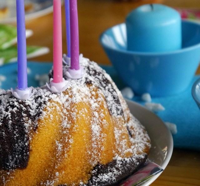 Birthday cake Birthday cake, German Marble Cake, Marmorkuchen