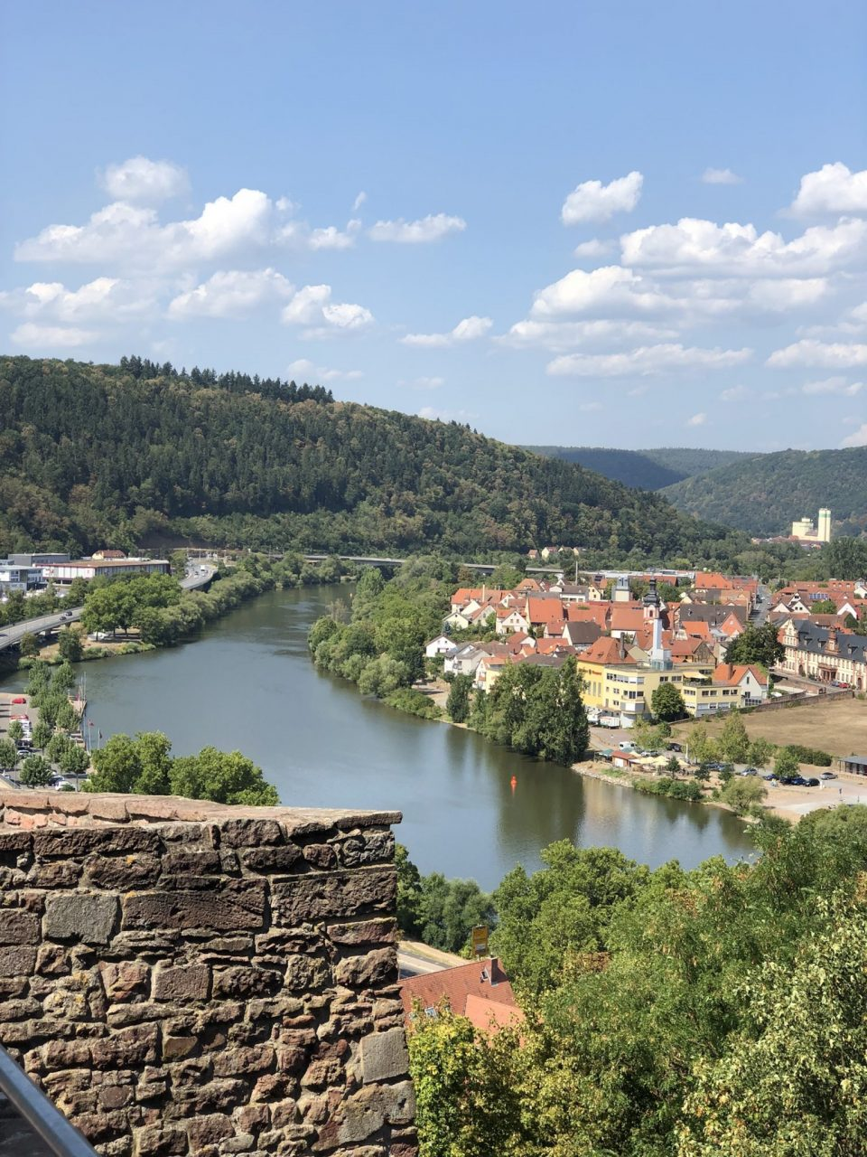 Wertheim view from castle restaurant