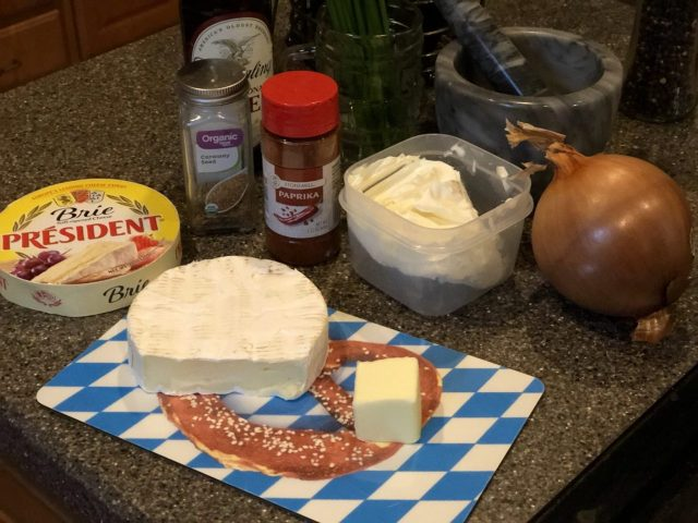 Obatzda Ingredients, German Brie spread, Angemachter Camembert