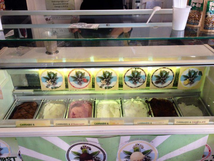 Cannabis ice cream in Amsterdam