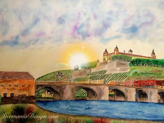 Wuerzburg Sunrise painting