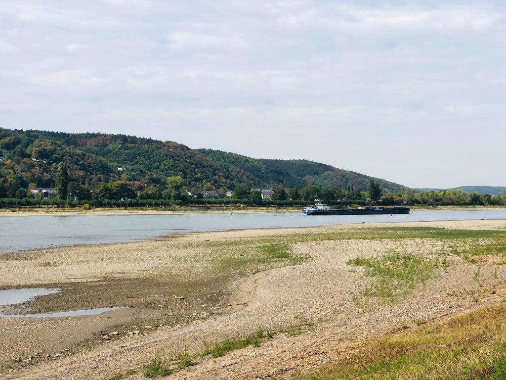 Rhein drought Aug. 2018 Bad Hönningen