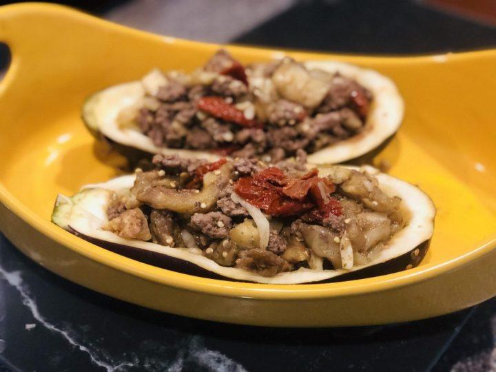fill eggplant, preparation