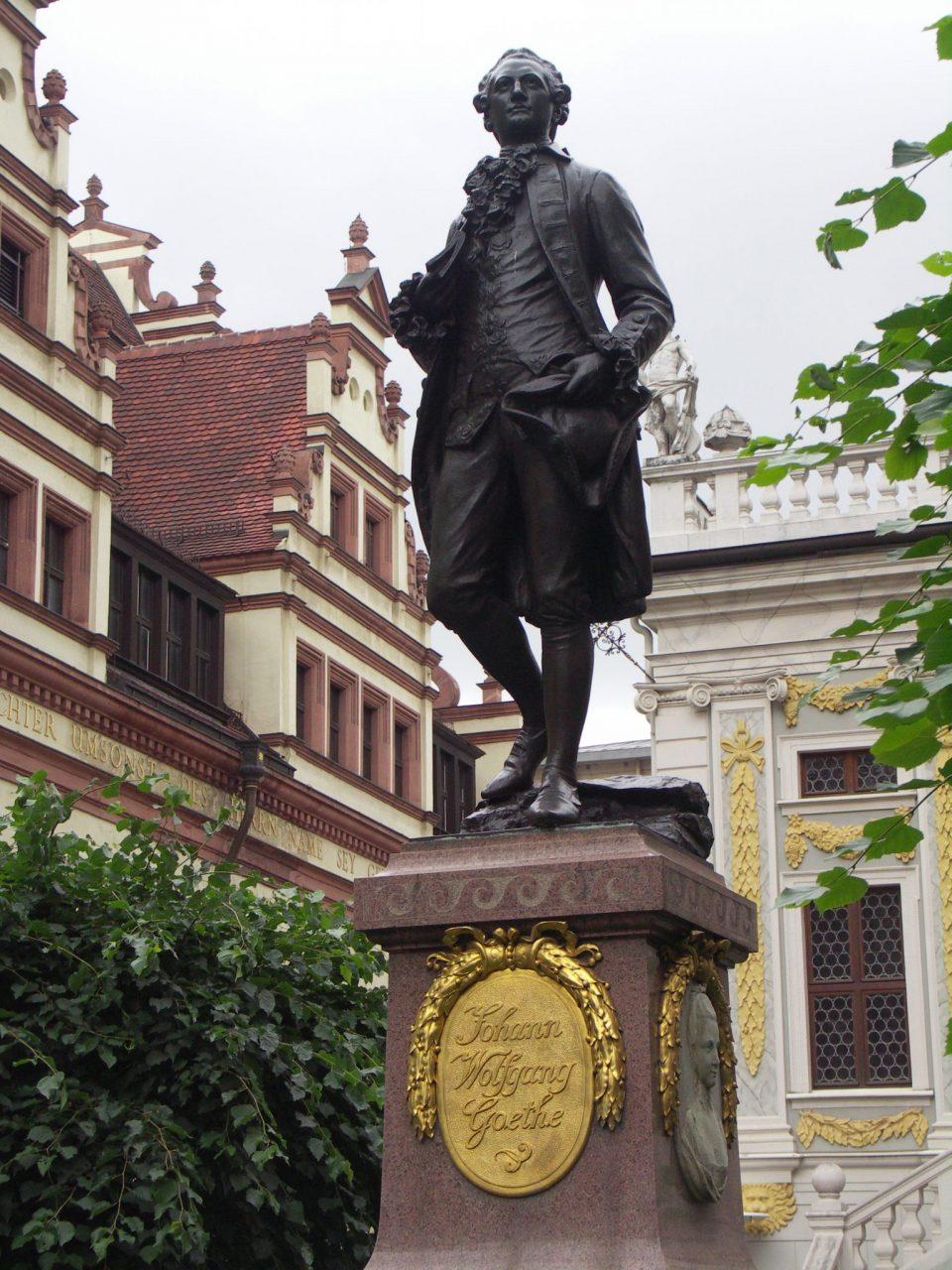 Goethe Statue in Leipzig