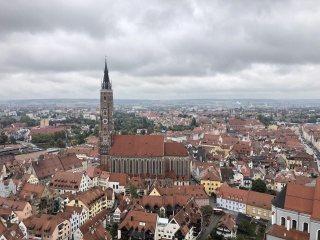 Landshut with St. Martin's Church