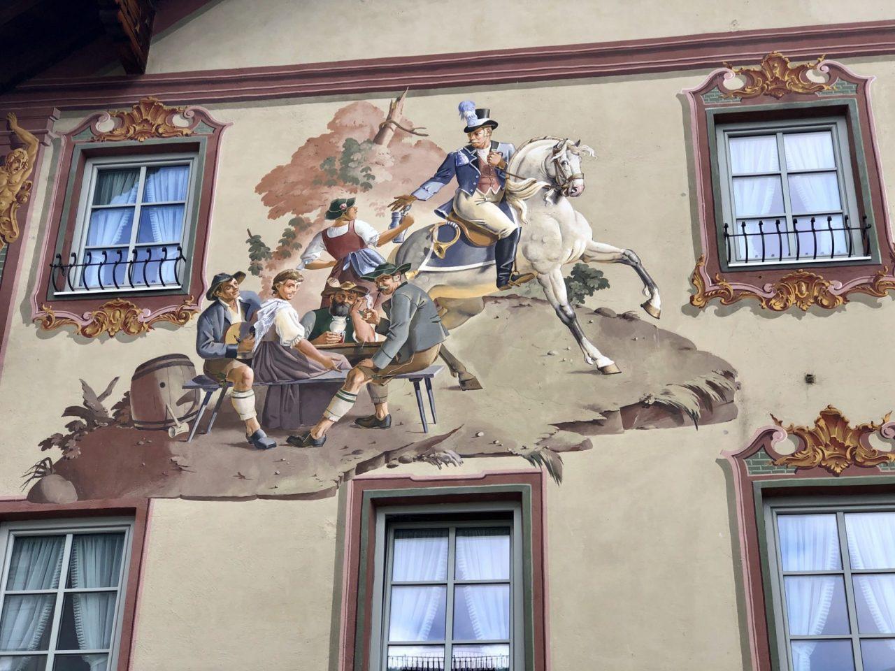 Mittenwald, South Bavaria, Lüftmalerei,