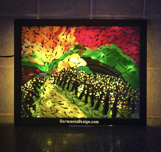 Angie's Glass Mosaic Vineyard