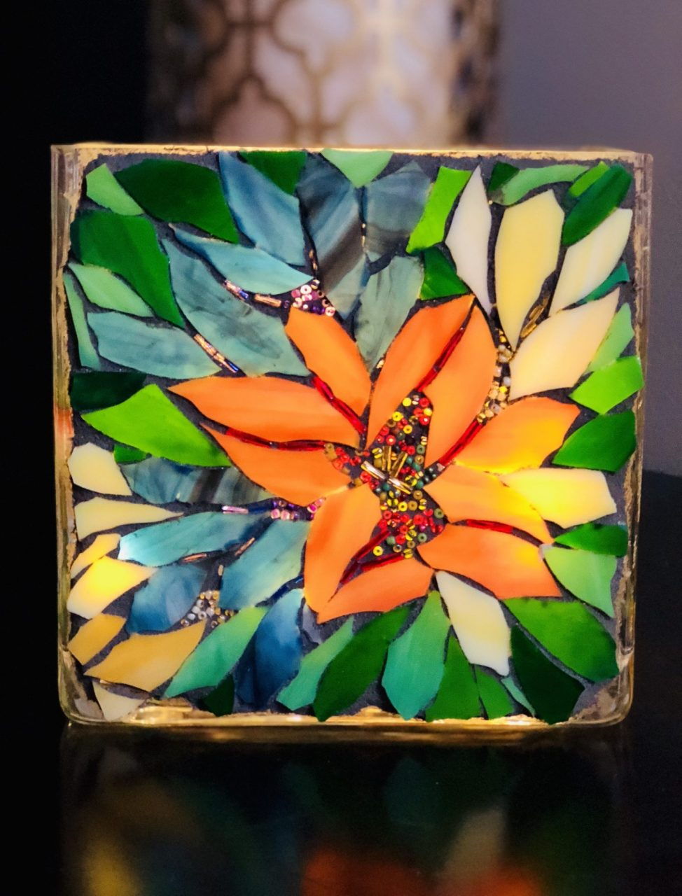 Angie's Glass Mosaic flowers