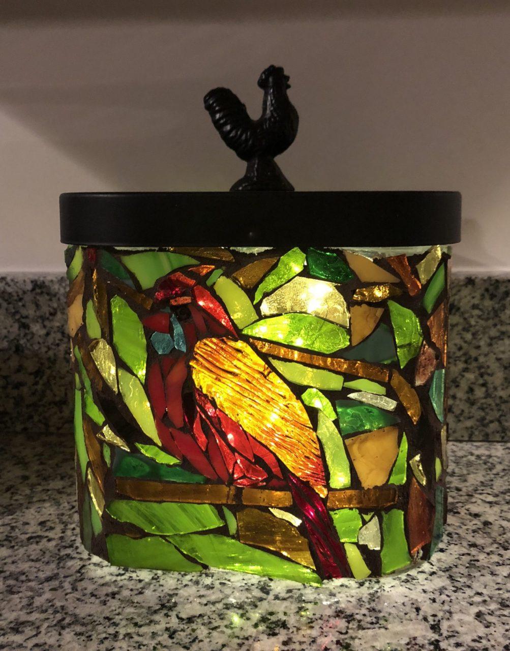 Angie's Glass Mosaic Cardinal