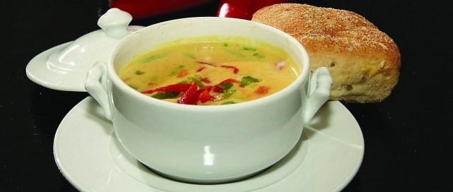 Creamy garlic cream soup