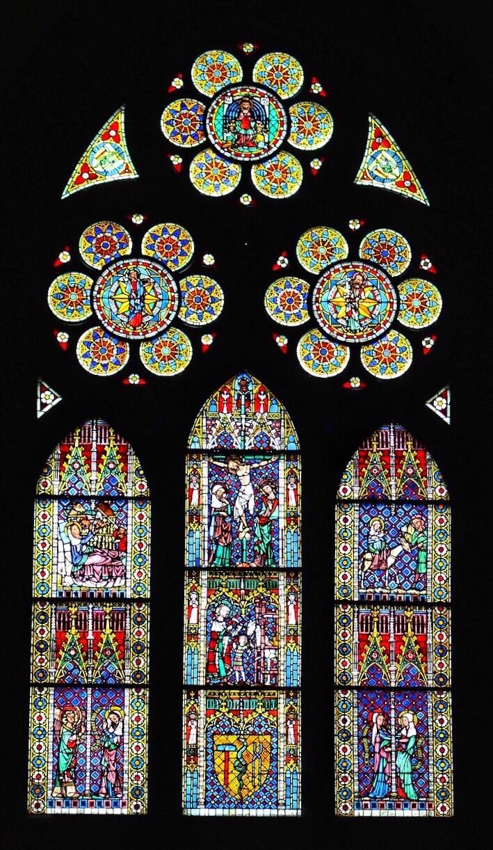Freiburg Cathedral, Muenster glass window