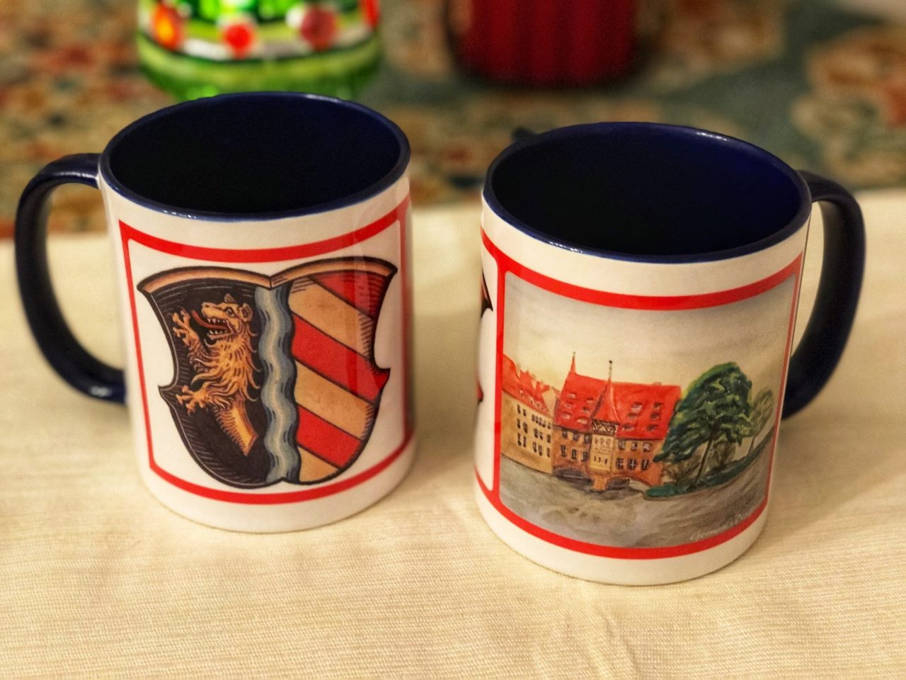 Nuernberg Watercolor mug with Coat of Arms with Coat of Arms, GermaniaDesign.com