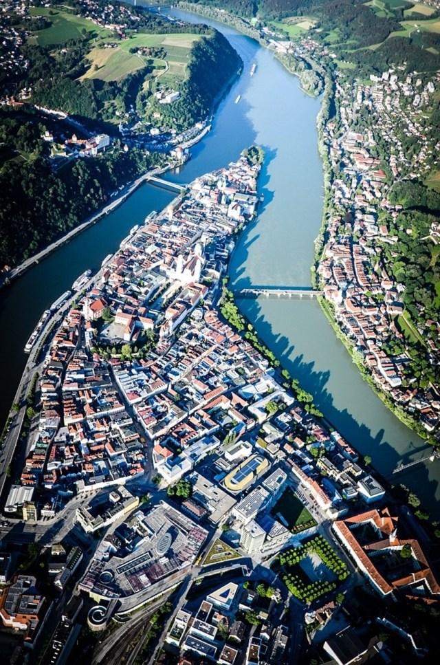 Passau, where three rivers meet