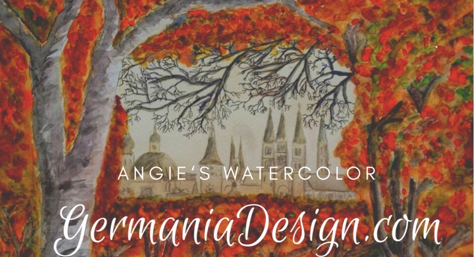 Angie'a Watercolor, Autumn in Würzburg, by GermaniaDesign.com