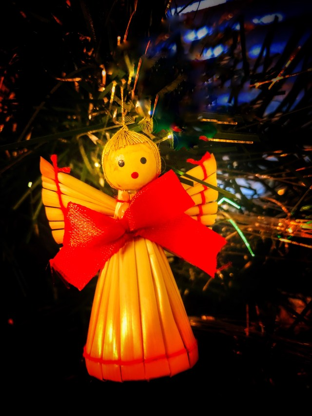 Straw Christmas Angel, Stroh Engel