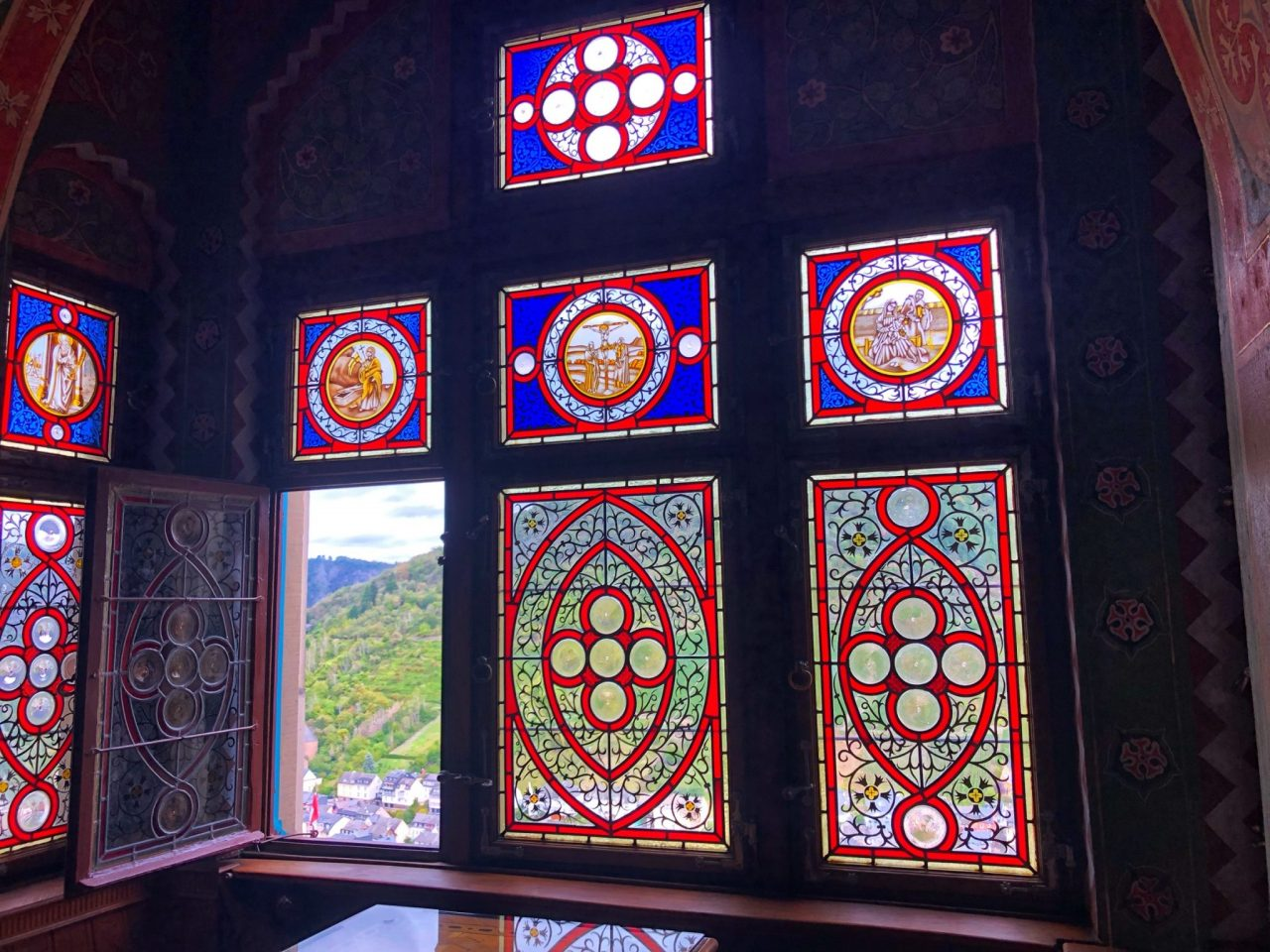 Cochem castle stained windows
