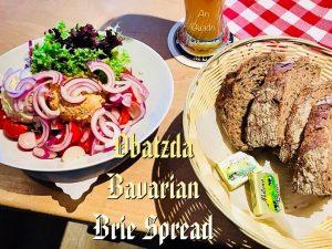 Obatzda, angemachter Camembert, Bavarian Brie Spread, a Munich speciality