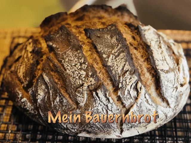 Bauernbrot, german Crusty, no knead bread, german Farmers bread