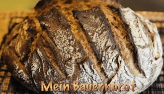Bauernbrot, german Crusty, no knead bread, german Farmers bread